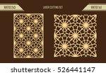 diy laser cutting set. woodcut... | Shutterstock .eps vector #526441147