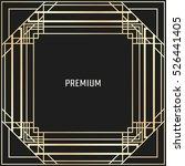 vector geometric frame in art... | Shutterstock .eps vector #526441405