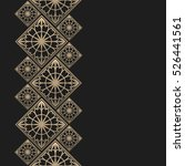 golden frame in oriental style. ... | Shutterstock .eps vector #526441561