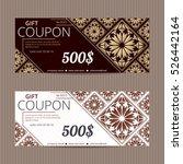 gift voucher in luxury style.... | Shutterstock .eps vector #526442164
