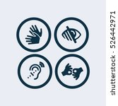 sign language icon blind icon... | Shutterstock .eps vector #526442971