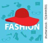 fashionable hat. vector | Shutterstock .eps vector #526444501