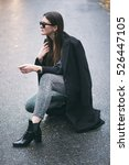 fashionable woman wearing a...   Shutterstock . vector #526447105