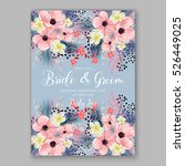 wedding invitation floral... | Shutterstock .eps vector #526449025