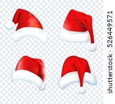 santa claus red hat silhouette. ... | Shutterstock .eps vector #526449571