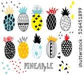 pineapple doodle set | Shutterstock .eps vector #526451899