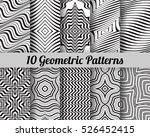 set of 10 abstract patterns.... | Shutterstock .eps vector #526452415