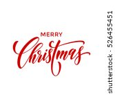 creative typography merry... | Shutterstock .eps vector #526455451