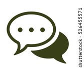 speech bubbles icon  flat... | Shutterstock .eps vector #526455571