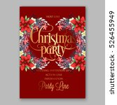 poinsettia christmas party... | Shutterstock .eps vector #526455949