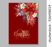 poinsettia christmas party... | Shutterstock .eps vector #526458019