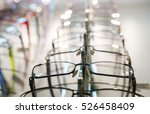 row of  eyeglass at an opticians   Shutterstock . vector #526458409
