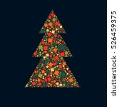 abstract christmas tree from...   Shutterstock .eps vector #526459375
