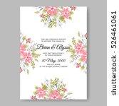 elegance wedding invitation... | Shutterstock .eps vector #526461061