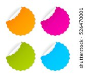 round curled sticker set vector ... | Shutterstock .eps vector #526470001