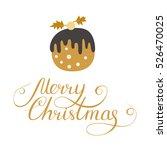 simple christmas card design... | Shutterstock .eps vector #526470025