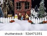 miniature christmas scene with... | Shutterstock . vector #526471351