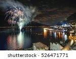 the fireworks at lake garda  | Shutterstock . vector #526471771