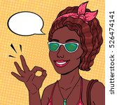 pop art african american woman... | Shutterstock . vector #526474141