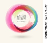 watercolor circle texture. ink... | Shutterstock .eps vector #526476829