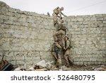 group of rangers team climbing... | Shutterstock . vector #526480795