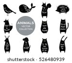 set of eleven cute animals with ...   Shutterstock .eps vector #526480939