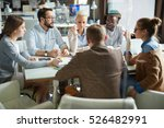 meeting of financial managers | Shutterstock . vector #526482991