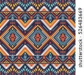 retro colors tribal vector... | Shutterstock .eps vector #526483669