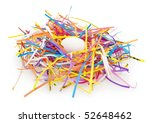 birds nest made from confetti... | Shutterstock . vector #52648462
