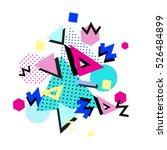 memphis trendy design with...   Shutterstock .eps vector #526484899