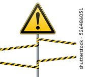 caution   danger  warning sign... | Shutterstock .eps vector #526486051