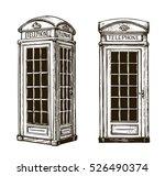 Hand Drawn London Phone Booth....
