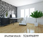 white room with a sofa. living... | Shutterstock . vector #526496899