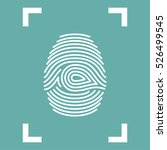 fingerprint icon isolated in... | Shutterstock .eps vector #526499545