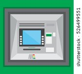 outdoor atm machine in a flat... | Shutterstock .eps vector #526499551