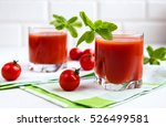 Tomato Juice In A Glass With A...