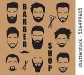 set men's hair with a beard....   Shutterstock .eps vector #526499605
