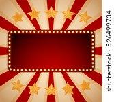 billboard. electric bulbs.... | Shutterstock .eps vector #526499734
