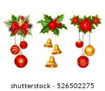 Set Of Three Vector Christmas...