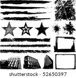 abstract grunge elements   Shutterstock .eps vector #52650397
