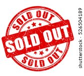 sold out rubber stamp vector...