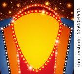 retro stage shining banner...   Shutterstock .eps vector #526504915