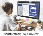 appointment agenda reminder... | Shutterstock . vector #526507399