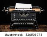 Antique Typewriter. An Old...