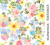floral seamless pattern with... | Shutterstock . vector #526510615