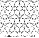 monochrome geometric seamless... | Shutterstock .eps vector #526515661