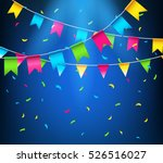 Multicolored Bright Buntings...
