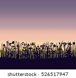 a summer field grass sunset... | Shutterstock .eps vector #526517947