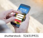 man holding a smartphone with... | Shutterstock . vector #526519921