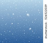 falling snow on blue background.... | Shutterstock .eps vector #526522039